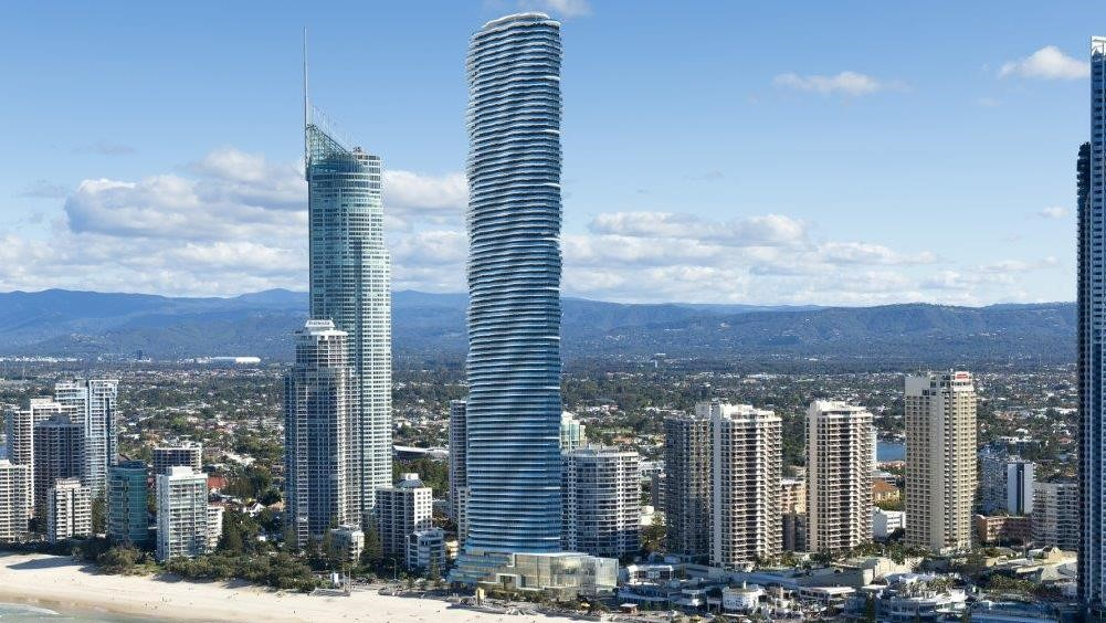 Artists impression of Gold Coasts tallest building - part of the Gold Coast 2020 vision